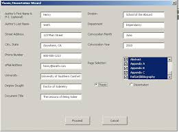 Technical Writing Software Suite  Wizard of Words  Thesis