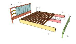 King Size Platform Bed Designs by King Platform Bed Plans Howtospecialist How To Build Step By