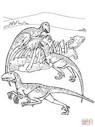 deinonychus dinos coloring page free printable coloring pages