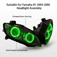 aliexpress com buy kt headlight for yamaha yzf r1 2004 2006 led