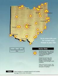 Toledo Ohio Zip Code Map by Nuclear War Fallout Shelter Survival Info For Ohio With Fema