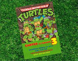 excellent ninja turtle birthday party invitations theruntime com