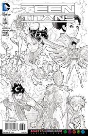 teen titans go color pages image teen titans vol 5 16 coloring book variant jpg dc