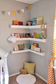 rain gutter shelves nursery book corner lucy u0027s room pinterest