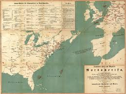 N America Map by Emigrant U0027s Map And Guide For Routes To North America World
