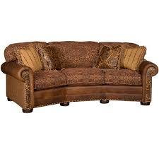 Carolina Leather Sofa by King Hickory Ricardo Conversation Sofa Kh 9965 Lf