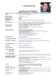 Job Resume Sample Malaysia by Executive Cv Examples Uk