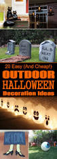 illuminated halloween decorations 20 easy and cheap diy outdoor halloween decoration ideas
