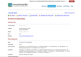 Sending Resume To Hr Email Sample by Resumespider Targeted Resume Distribution Service To Employers And