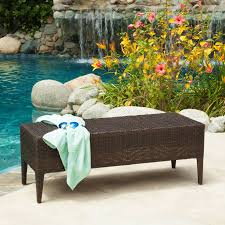 Wicker Patio Coral Coast Danson All Weather Wicker Outdoor Bench With Cushion