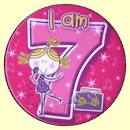 7th Birthday Badge Singer | 7th Birthday Party Supplies