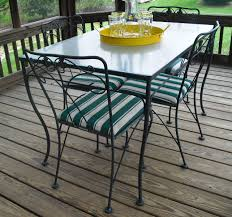 Black Wrought Iron Patio Furniture Sets by Chair Round Glass Top Dining Table Sets Wrought Iron Room Chairs