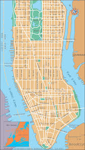 Street Map Of New York City by Lakota Nyc