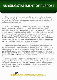 Super Statement of Purpose for Nursing Graduate School   Grad     Statement of Purpose for Nursing Graduate School