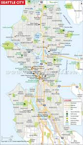 Map Of Washington Cities by Buy Seattle City Map