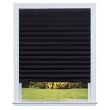 shop redi shade black blackout cordless paper pleated shade