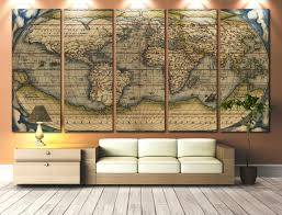 World Map Canvas by Large Artwork For Walls Large Wall Art World Map Canvas Print