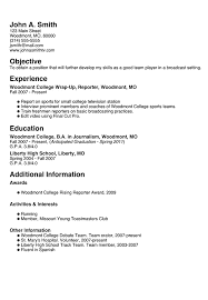 On Campus Job Resume by Résumé Builder Myfuture