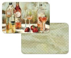 grape kitchen decor theme ceramics wine grape tuscan grape wine award reversible 4 vinyl plastic placemats