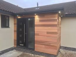 Side Porch Designs by Black Door In Timber Clad Porch They Compliment Each Other