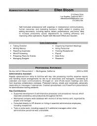 Sample Resume For Admin Assistant by Sample Resume Administrative Assistant Free Resume Example And