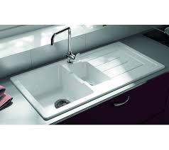 Thomas Denby Jarla  Bowl White Ceramic Modern Kitchen Sink - Ceramic white kitchen sink