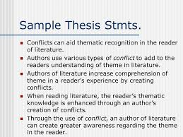 essay c sample WBC Essay How to Begin The Prompt Essay prompt How does the SlidePlayer Sample Thesis Stmts Conflicts can aid thematic recognition in the reader of