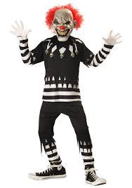Kids Skeleton Halloween Costume by Kids Psycho Clown Costume