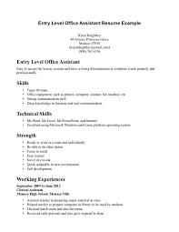 Office Assistant Resume Sample by Entry Level Office Assistant Resume Free Resume Example And