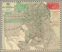 Street Map San Francisco by Map Of City And County Of San Francisco H A Candrian Copyright
