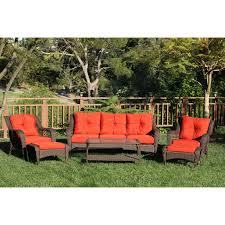 Black Wicker Patio Furniture Sets - crosley catalina 4 piece outdoor wicker curved conversation set