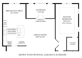 Sunroom Floor Plans by Meadow Glen At Skippack The Westridge Home Design