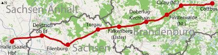 ferrovia Halle-Cottbus