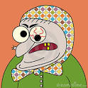cartoon crazy old lady