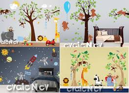 mail4rosey win a nursery makeover from evgienev wall decals charming king of the jungle with lion giraffe elephants and monkeys baby nursery wall decals
