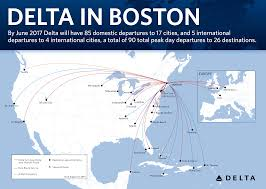 Boston Logan Map by New Routes Flights Offered In Boston Service Expansion Delta
