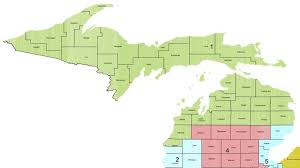 Us Map Michigan michigan congressional district 1 113th united states congress