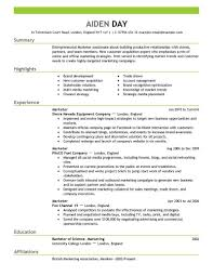 Breakupus Winsome Marketing Resume Examples By Aiden Download     Break Up