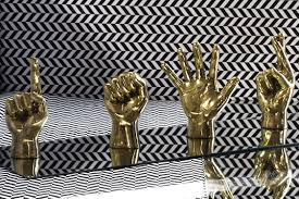 Brass Home Decor by Brass Hand U0027middle Finger U0027 The Cool Hunter The Cool Hunter