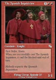 No one expects it