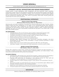 Resume Retail Template Operations Manager Sample Resume Resume Sample 5 Operations