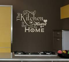 Kitchen Cabinet Quotes Amazing Kitchen With Wall Quotes Decals Combined Dark Wall Paint