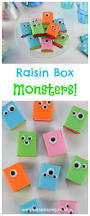 easy fun snack idea raisin box monsters eats amazing