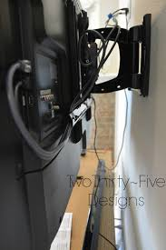 wall mounted cable management system diy wall mounted television u0026 hidden cords two thirty five designs