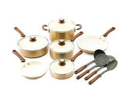 black friday ceramic cookware amazon com trisha yearwood cottage precious metals 14 piece non