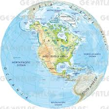 Physical Map Of South America by Map Of North America
