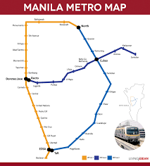Metro Manila Map by Asean Metro What Was The 1st Rapid Transit Electric Rail Line In