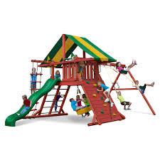 Cedar Playsets Gorilla Sun Valley Swing Set Walmart Com