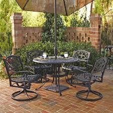 5 Pc Patio Dining Set - shop home styles biscayne 5 piece black aluminum patio dining set