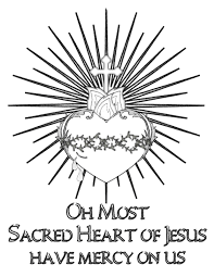 life love u0026 sacred art free sacred heart of jesus coloring page